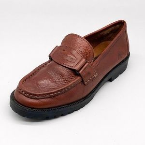 Timberland Cognac Leather Loafers